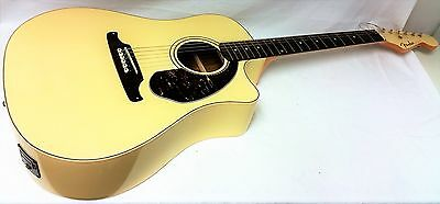 FENDER Sonoran SCE Olympic White 6 String Acoustic Electric Guitar