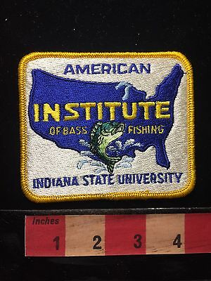 v2 AIBF-ISU American Institute Bass Fishing INDIANA STATE UNIVERSITY PATCH 68DD