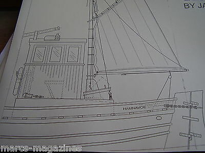 A Model Boat Plan Sea 38Ft Scottish Fifie Fishing Boat  On 8 Sheets X  A3 Paper