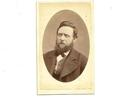 Vintage CDV Photo Man With Full Beard Galt Ontario Carte De Visite Photograph