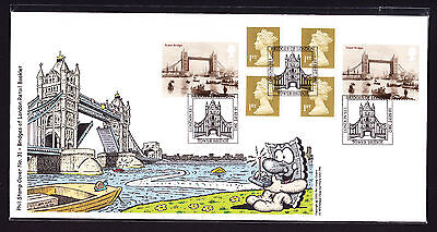 2002 GB Great Britain Phil Stamp First Day Cover FDC Bridges of London 68 of 100