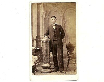 Vintage CDV Photo Young Man In Suit Chatham Ontario Antique Carte De Visite