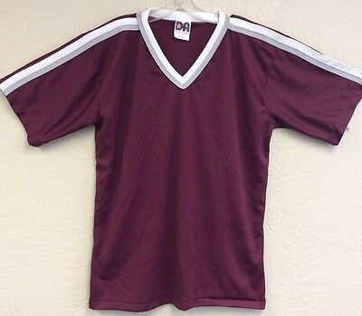 Don Alleson Athletics Mens Large Vintage 80's Polyester Shirt Tee Made USA New