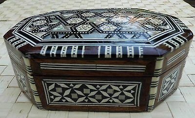 Hand Made Trinket / Jewellery Box Mother of Pearl Inlaid