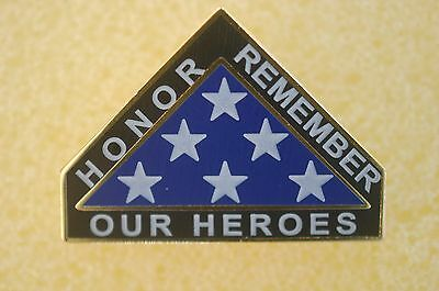 US USA Remember Our Heroes Flag Patriotic Hat Lapel Pin