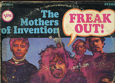 Mothers of Invention Freak Out Original 1966 33RPM LP Canada