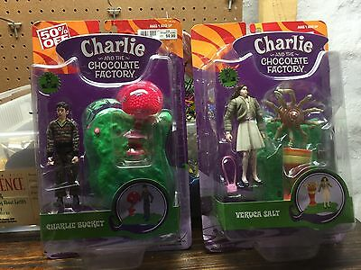 Lot of 4 new Willy Wonka and The Chocolate Factoty Toys
