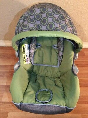 Baby Trend Ez Loc Infant Car Seat Cover Cushion Canopy Replacement Gray Green