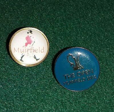 2 x MUIRFIELD GOLF BALL MARKERS
