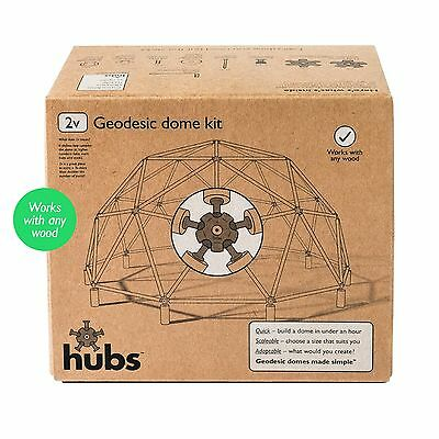 DIY Geodesic Dome Kit - Make a fruit cage, arbour, garden room, aviary, etc.