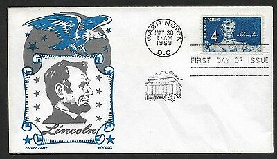 (111cents) USA 1959 Abraham Lincoln First Day Cover