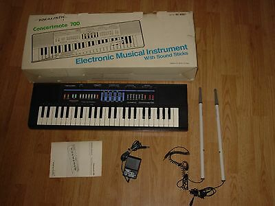 Vintage Realistic Concertmate 700 Keyboard Synthesizer w/ Drumsticks