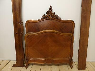 LOVELY ANTIQUE FRENCH LARGE SINGLE BED - one of a pair - G92/93