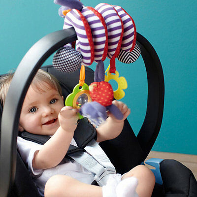 Cute Infant Baby Play Activity Spiral Bed & Stroller Toys Set Hanging Toys MX