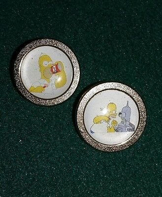 2 x HOLMER SIMPSON GOLF BALL MARKERS