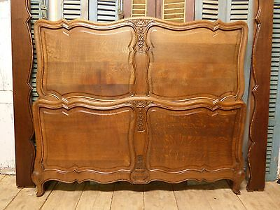 VINTAGE OAK FRENCH KING SIZE / DOUBLE BED - hc58