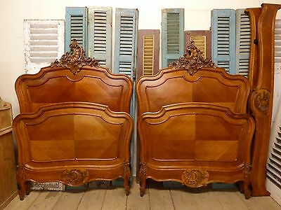 Antique French Large Single Beds - ha138/139