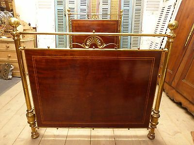 Antique Brass & Iron French Bed - ha85