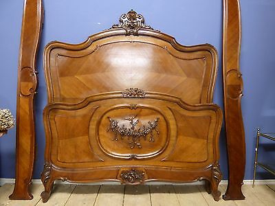 ANTIQUE FRENCH DOUBLE BED - Great Detail - v55