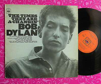 BOB DYLAN LP The Times They Are A-Changin' Uk 1970s Press CBS62251 Classic!!!!