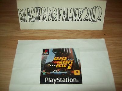 Playstation 1,ps1,gta,grand Theft Auto 2,instruction Manual Only,please Read Add