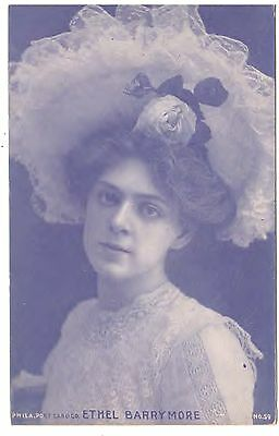 ETHEL BARRYMORE THE FIRST LADY of THE AMERICAN THEATRE c1910 POSTCARD