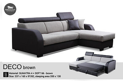 - Deco - Best Sale New Corner Sofa Bed, Sleep Function more than 4 seater