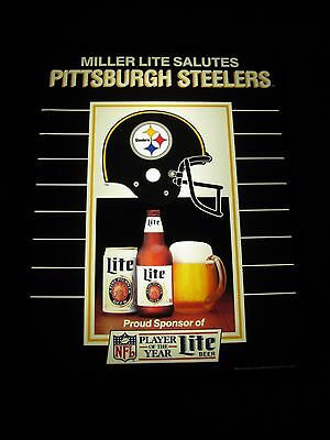 Pittsburgh Steelers Nfl Football Miller Lite Lighted  Beer Sign Light Pa