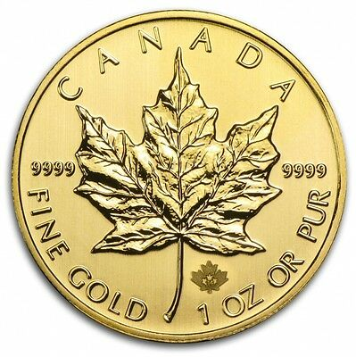 1 oz Random Year Gold (Canada) Canadian Maple Leaf $50 BU