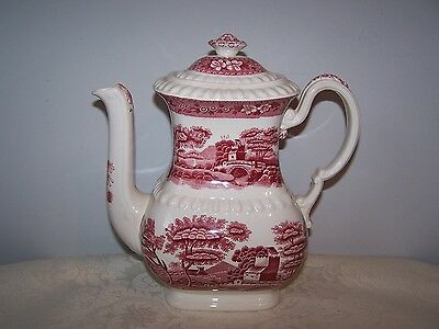 Beautiful Spode Pink Tower Coffee Pot - Pink Stamp