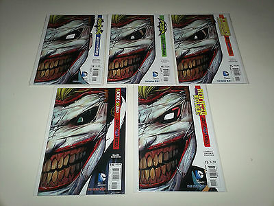 Death of the Family Joker Diecut lot of 5. Nightwing, Suicide Squad +++ NM Deal!