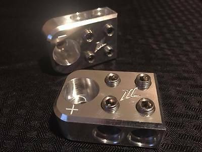 Pair of ILL Customz (4) 1/0 AWG Wire Car Audio Battery Terminals BOLT DOWN