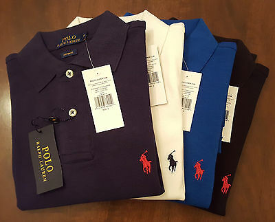 New Ralph Lauren Men Custom Fit Polo Short Sleeve T Shirt T Small Pony S M L XL