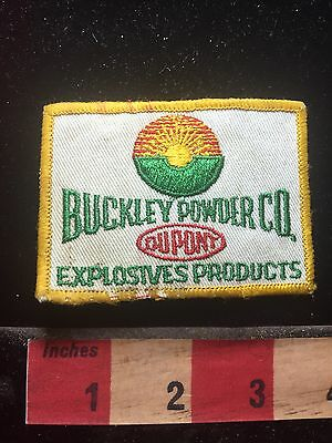 Vtg DUPONT BUCKLEY POWDER COMPANY Explosives Products Advertising Patch 76WU