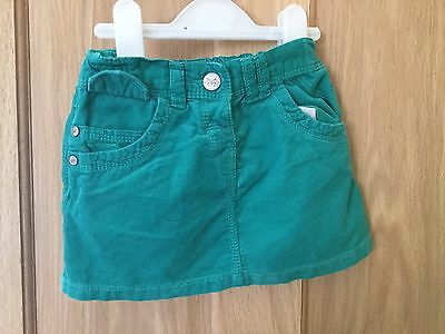 Next Cord Skirt (Green) 12-18 Months
