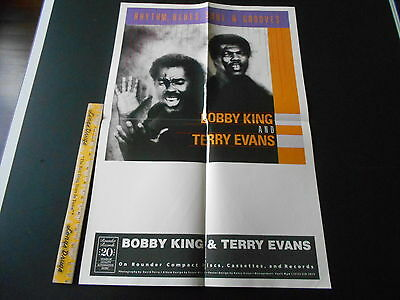 Bobby King & Terry Evans, Rounder Records 22 X 15 Inch Poster