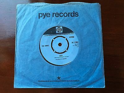 The Kinks Lola 7 ins vinyl single Rare