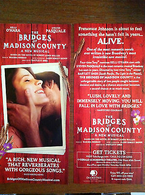 The Bridges of Madison County ad/flyer musical Broadway NYC based on book/movie