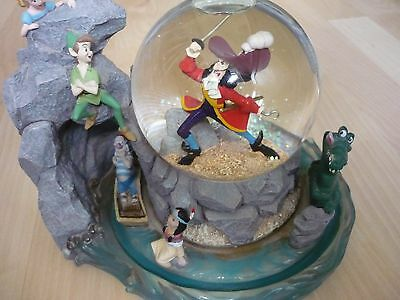 Disney Musical(you can fly song) large Snow globe rare 9inch long by 7 inch high
