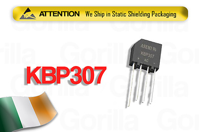 NEW 2Pcs KBP307 Bridge Rectifier Full Wave 700Volts 3Amp