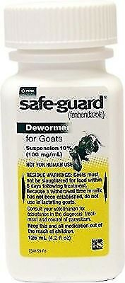 Safeguard Goat Dewormer  125ml (wormer)   FREE SHIPPING