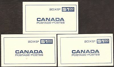 Stamps Canada # Bk58, 1967, lot of 3  Booklets MNH stamps.