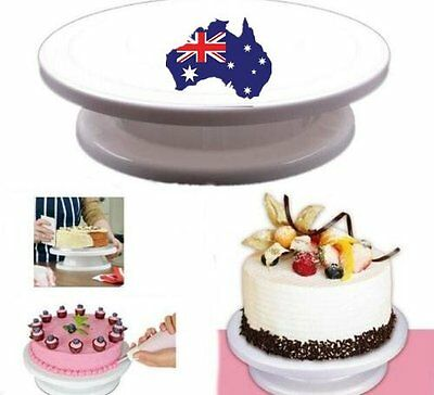 White Cake Making Rotating Decorating Platform Stand Display Turntable Stannd MX