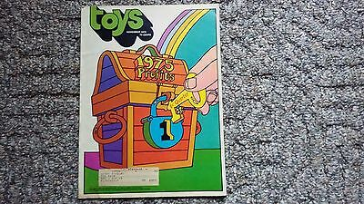 Toys Magazine Vintage November 1974 75 Pages Color And B/w