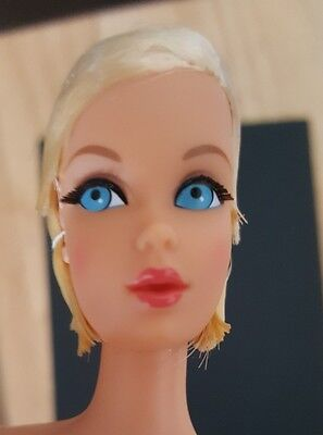 2017 reproduction repro hair fair barbie blonde newly deboxed stand  doll only