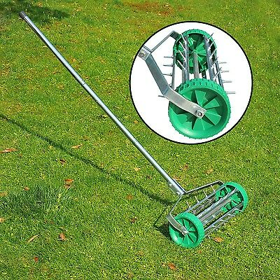 Adjustable Garden Aerator Lawn Yard Grass Nutrient Hand Roller Perfect Lawns