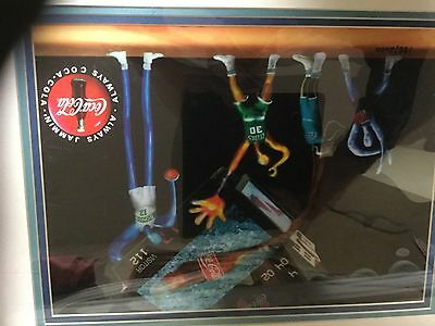 Coca-cola animation art basketball framed picture