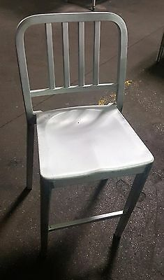Aluminum Bar Stool Metal Chair by Shelby Williams
