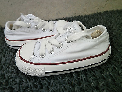 Converse Basse Blanche Taille 20 Tbe