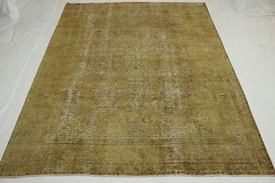 East Rug Vintage 380x290 beige light brown quality Used Look hand knotted 2767